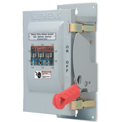 Siemens 60A Heavy Duty Safety Switch with Viewing Window